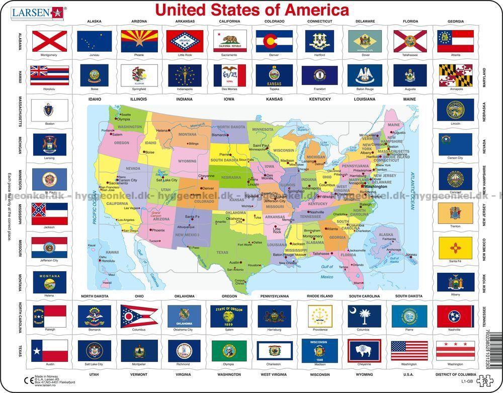 Usa Kort Fysisk Usa Nordamerika Vaegkort