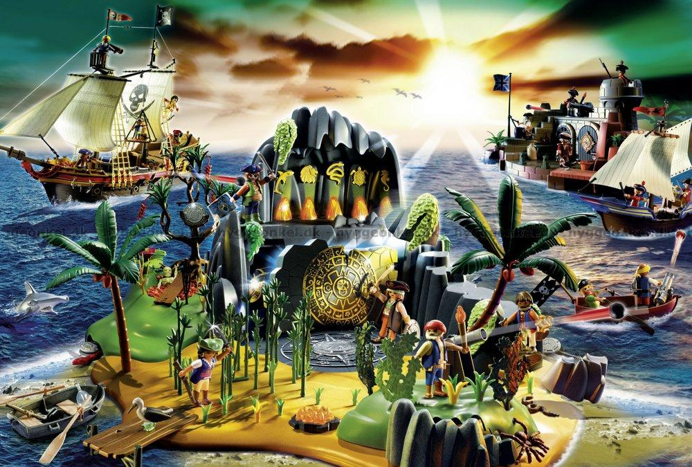 køb playmobil pirat øen 150 brikker billigt på nettet