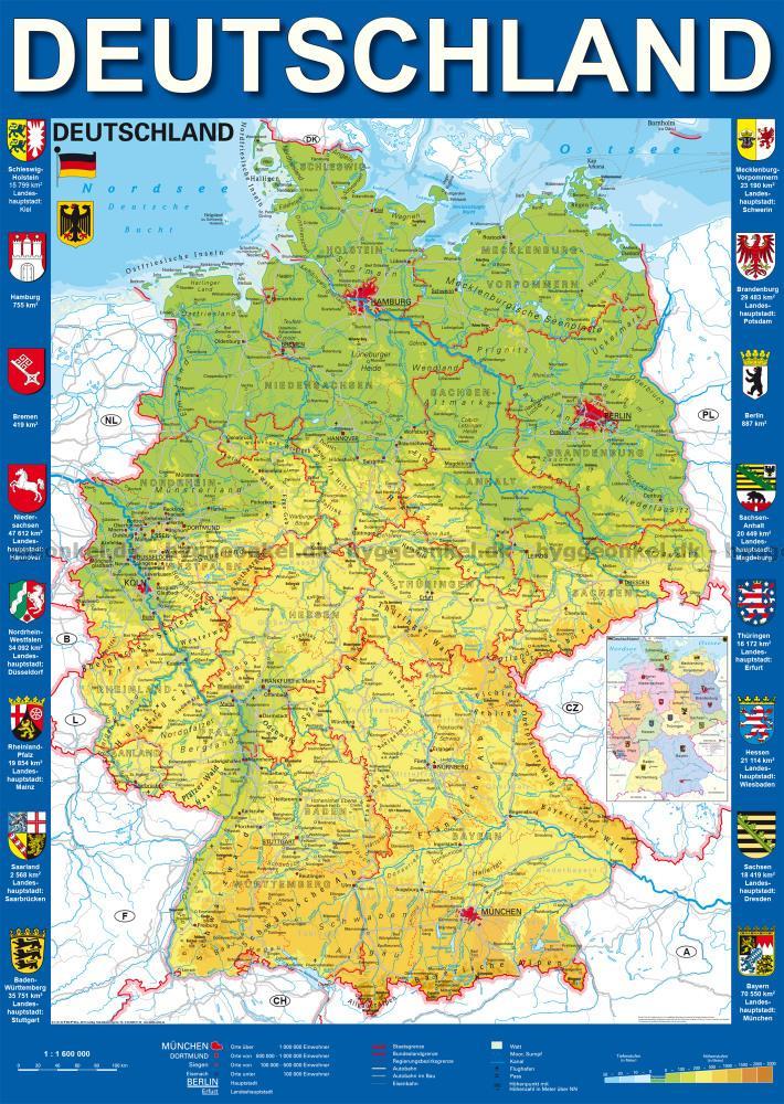 Her Kan Du Kobe Kort Over Tyskland 1000 Brikker