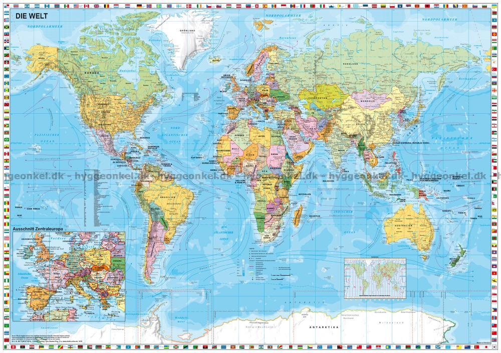 Kort Over Verden 1500 Brikker Puslespil Bestil I Dag