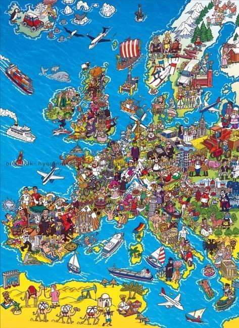 Kob Kort Over Vesteuropa 1000 Brikker