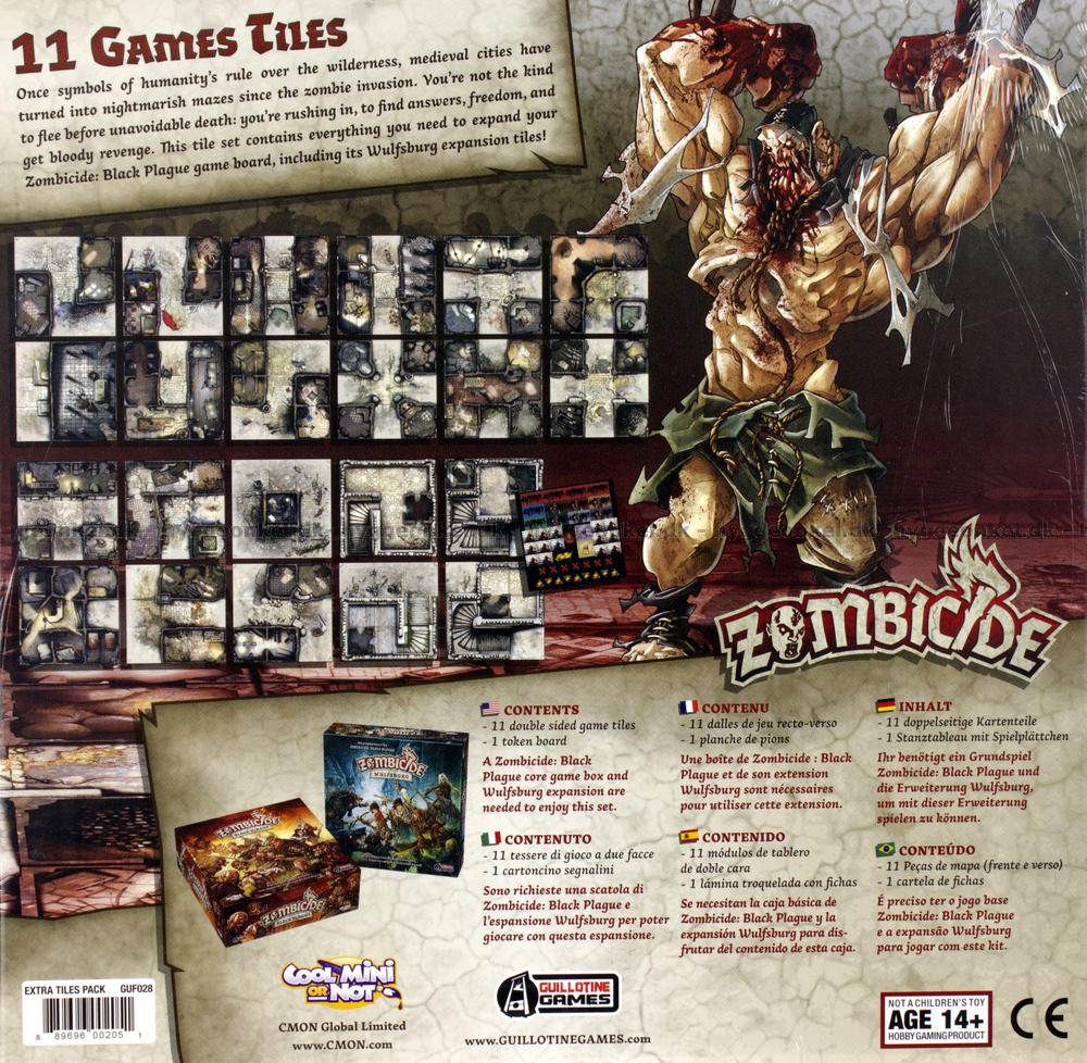 Zombicide Black Plague 11 Games Tiles Kan K 248 Bes Her